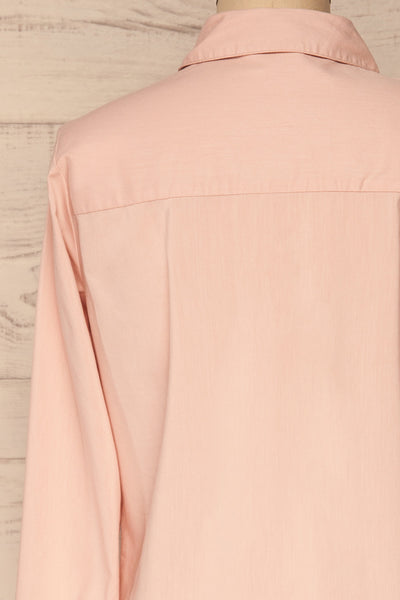 Eggodden Rose Light Pink Long Sleeved Shirt | La Petite Garçonne back close up