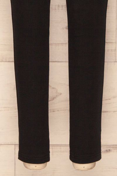 Eggum Coal Black Fitted Denim Pants | BOTTOM CLOSE UP | La Petite Garçonne