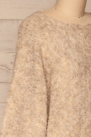 Egilsvik Beige Knit Sweater | La Petite Garçonne side close-up