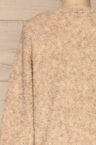 Egilsvik Beige Knit Sweater | La Petite Garçonne back close-up
