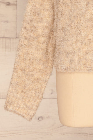 Egilsvik Beige Knit Sweater | La Petite Garçonne bottom close-up
