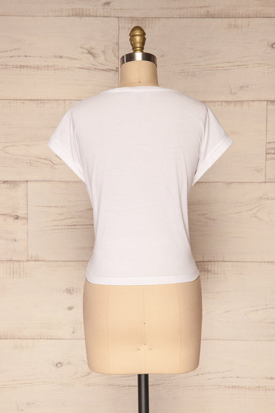 Eibydal Bianca White Slightly Cropped T-Shirt | La Petite Garçonne 6