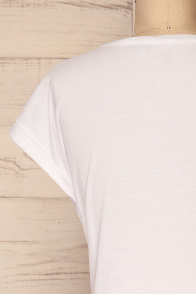 Eibydal Bianca White Slightly Cropped T-Shirt | La Petite Garçonne 7