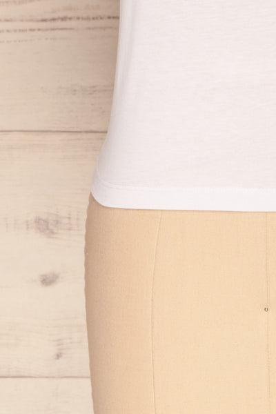Eibydal Bianca White Slightly Cropped T-Shirt | La Petite Garçonne 8