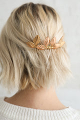 Eirene Gold & Bronze Hair Comb with Leaves | Boudoir 1861