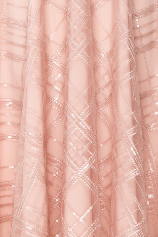 Elaina Baby Pink Sequin A-Line Dress | Boutique 1861 8