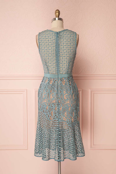 Eliora Spring Seafoam Crocheted Lace Mermaid Dress | Boutique 1861