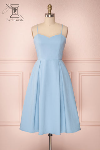 Ellyne Blue A-Line Cocktail Dress | Boutique 1861