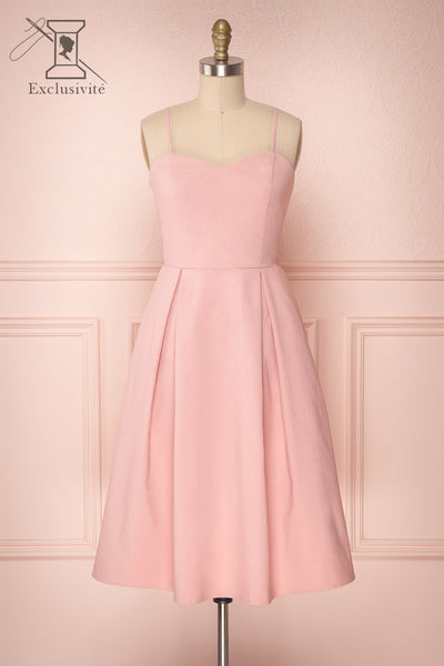 Ellyne Petal Dusty Pink A-Line Cocktail Dress | Boutique 1861