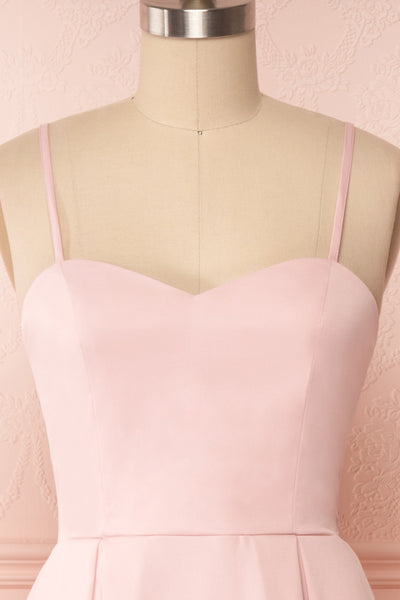 Ellyne Pink A-Line Cocktail Dress | Boutique 1861 front close up