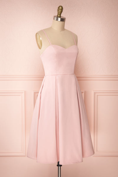 Ellyne Pink A-Line Cocktail Dress | Boutique 1861 side view