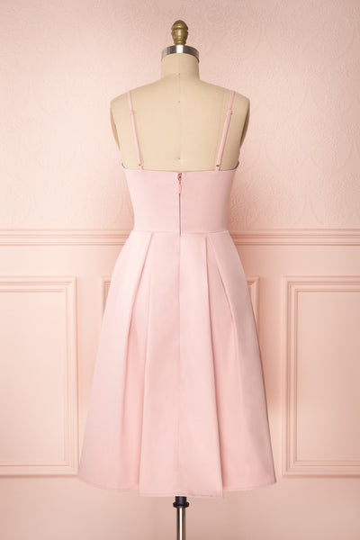 Ellyne Pink A-Line Cocktail Dress | Boutique 1861 back view