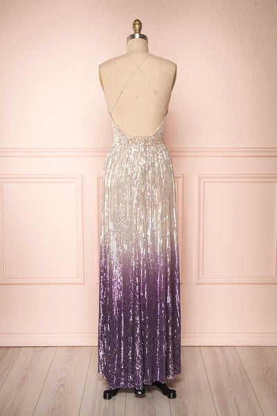 Emerentine Ombre Sequin Gown | Robe longue back view | Boutique 1861