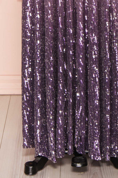Emerentine Ombre Sequin Gown | Robe longue skirt close up | Boutique 1861