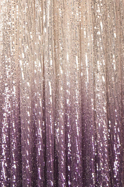 Emerentine Ombre Sequin Gown | Robe longue fabric close up | Boutique 1861