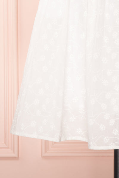Emmarie White Floral Embroidered A-Line Dress | Boutique 1861