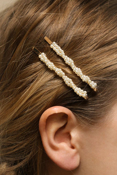 Epilobe Set of Golden Hair Pins with Pearls | Boutique 1861