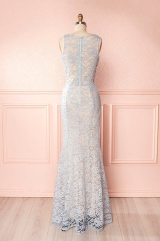 Eranka Light Blue Lace Mermaid Gown | Boudoir 1861