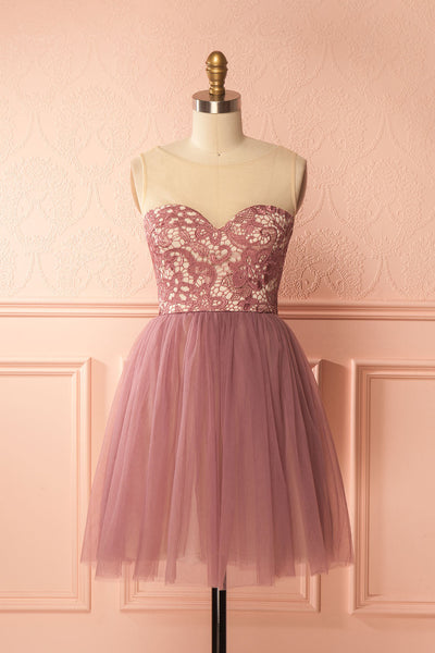 Erell Purple Lace & Tulle Prom Dress | Boutique 1861