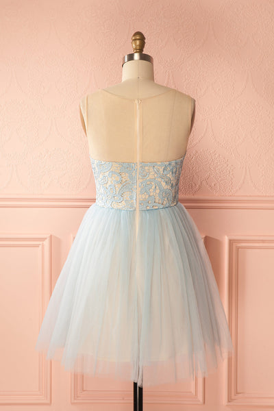 Erell Water Light Blue Lace & Tulle Prom Dress | Boutique 1861