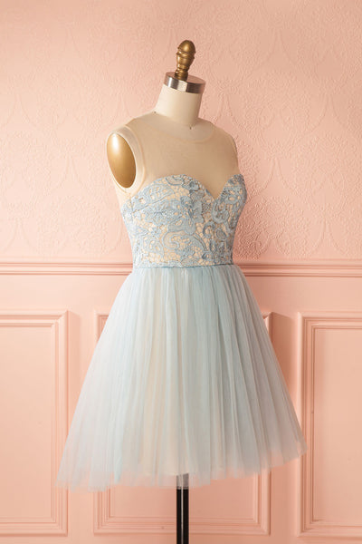 Erell Water | Blue Lace & Tulle Dress