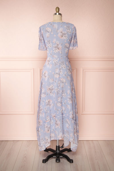 Espella Lilac Floral Buttoned Maxi Dress | Boutique 1861 back view