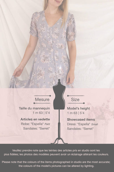 Espella Lilac Floral Buttoned Maxi Dress | Boutique 1861 template