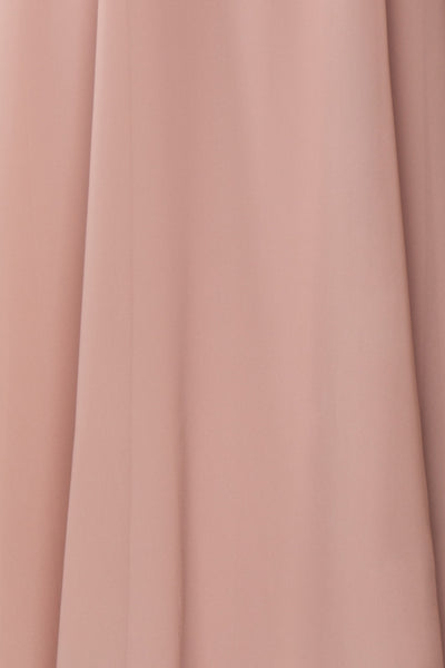 Esther Taupe Maxi Prom Dress with Slit | Boutique 1861 fabric
