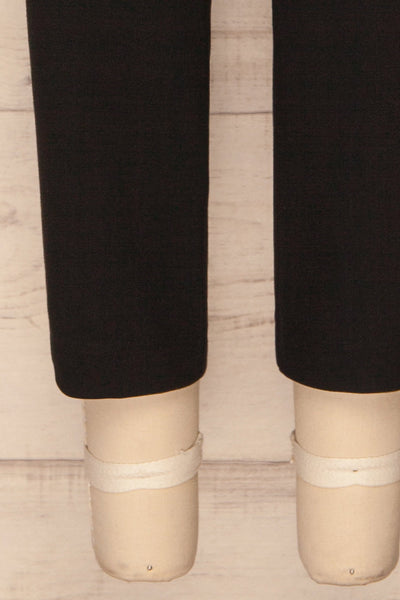 Etain Black Work Pants | Pantalon | La Petite Garçonne bottom close-up