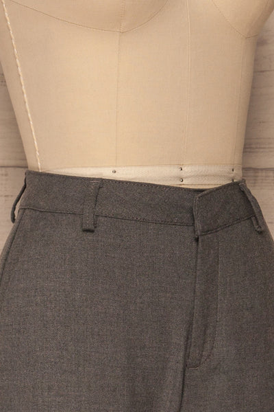Etain Grey Work Pants | Pantalon | La Petite Garçonne side close-up