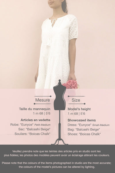 Eunyce White A-Line Dress w/ Embroidery | Boutique 1861 template