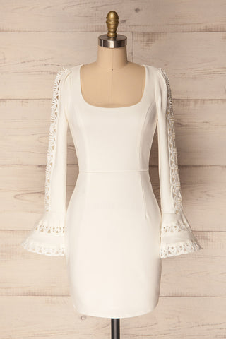 Eupatoria White Cocktail Dress with Bell Sleeves | La Petite Garçonne