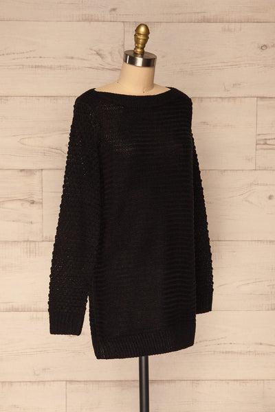 Eutin Black Long Sleeve Knit Sweater | La petite garçonne side view