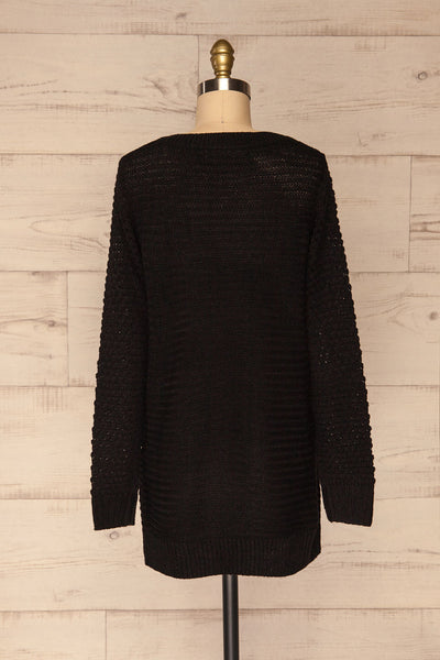 Eutin Black Long Sleeve Knit Sweater | La petite garçonne back view