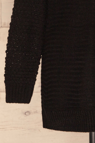 Eutin Black Long Sleeve Knit Sweater | La petite garçonne bottom