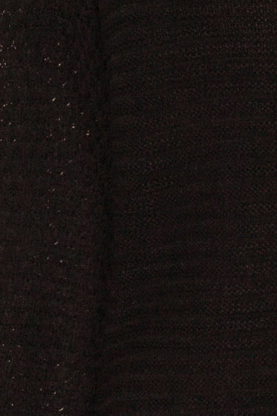 Eutin Black Long Sleeve Knit Sweater | La petite garçonne fabric