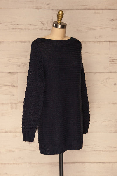 Eutin Navy Blue Long Sleeve Knit Sweater | La petite garçonne side view