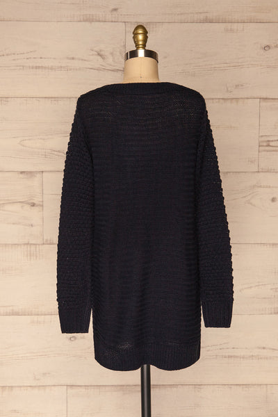 Eutin Navy Blue Long Sleeve Knit Sweater | La petite garçonne back view