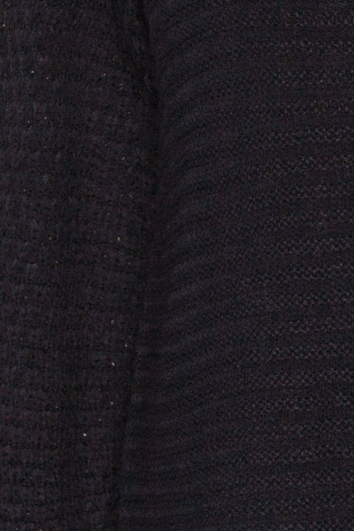 Eutin Navy Blue Long Sleeve Knit Sweater | La petite garçonne fabric
