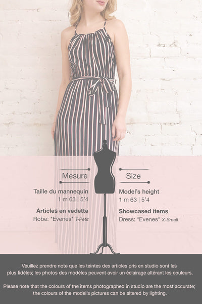 Evenes Navy Blue Striped Maxi Dress | La petite garçonne template
