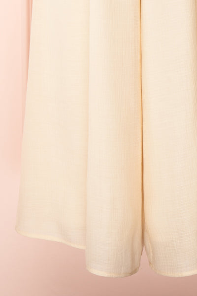 Evette Beige Wide Leg Jumpsuit w/ Pockets | Boutique 1861 bottom