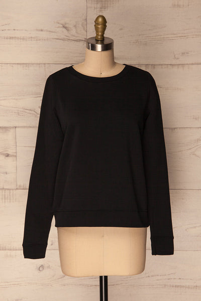 Ewell Storm Black Long Sleeved Sweater | La Petite Garçonne 1