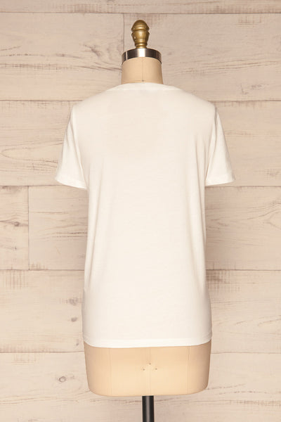 Faadalen Cloud White Short Sleeved T-Shirt | La Petite Garçonne 5