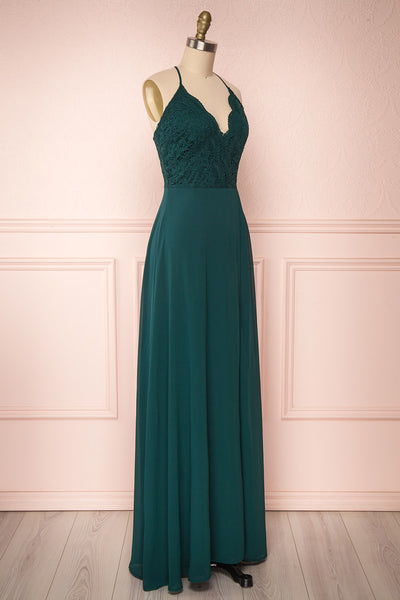 Fabia Green Lace & Chiffon Bridesmaid Dress | Boudoir 1861