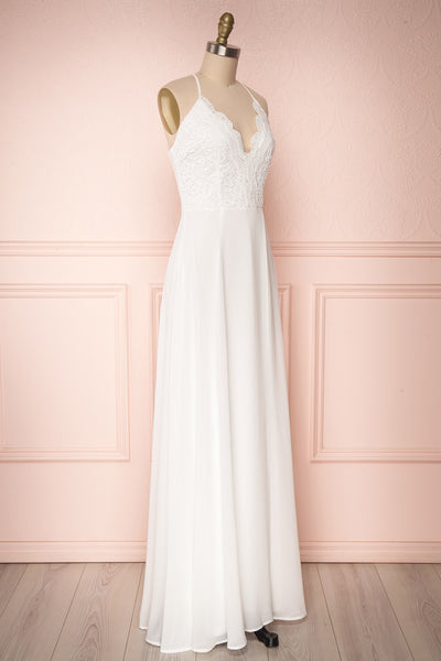 Fabia Ivory White Lace & Chiffon Bridesmaid Dress | Boudoir 1861
