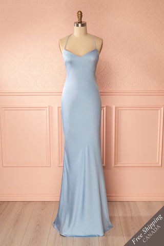 Fabrizzia Light Blue Open-Back Mermaid Dress Boudoir 1861