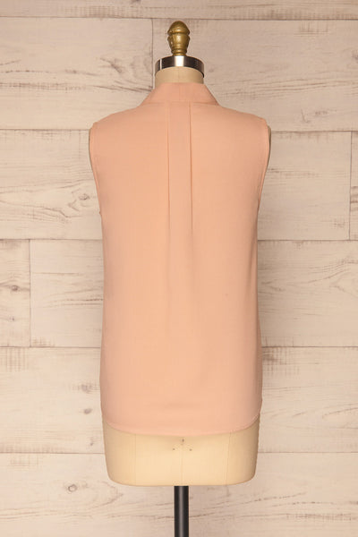 Fadlet Pink Blush Beige Sleeveless Top | La petite garçonne back view