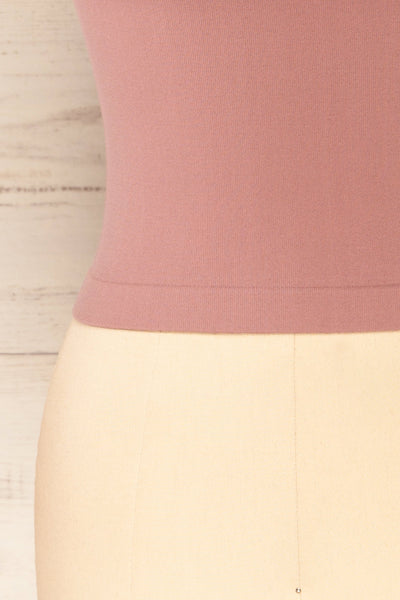Fafe Lilac Pink Fitted Cropped T-Shirt | La petite garçonne bottom