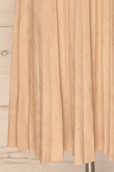 Fagerhaug Beige Pleated Midi Skirt | La petite garçonne  bottom