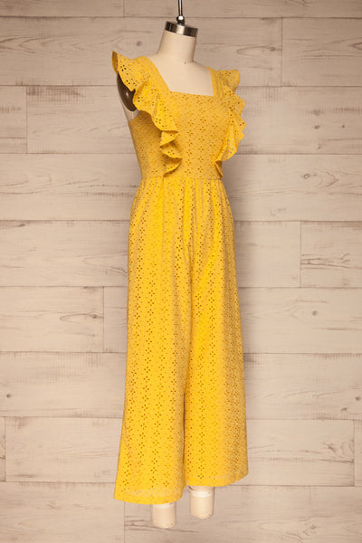 Fagervik Yellow Wide Leg Jumpsuit | La petite garçonne side view